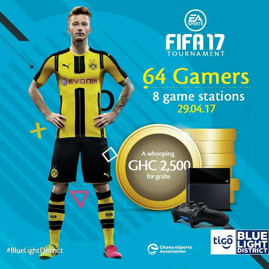 There will be a Fifa 17 competition at the Blue Light District on Saturday