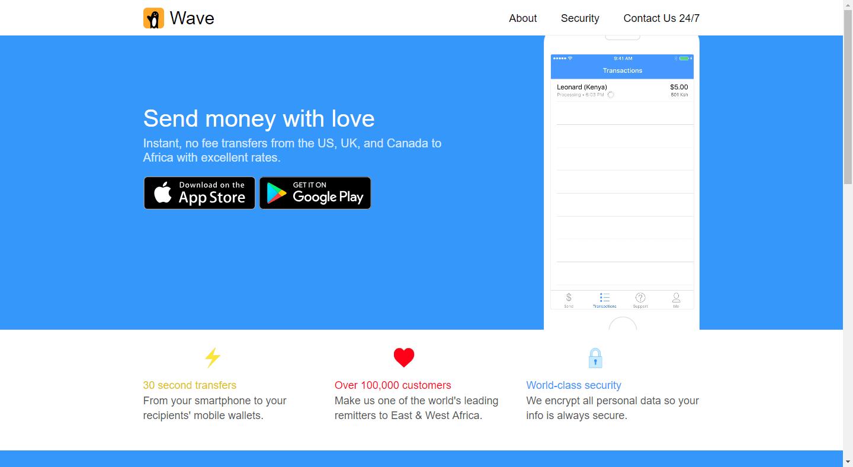 Wave Money Transfer Send Mobile