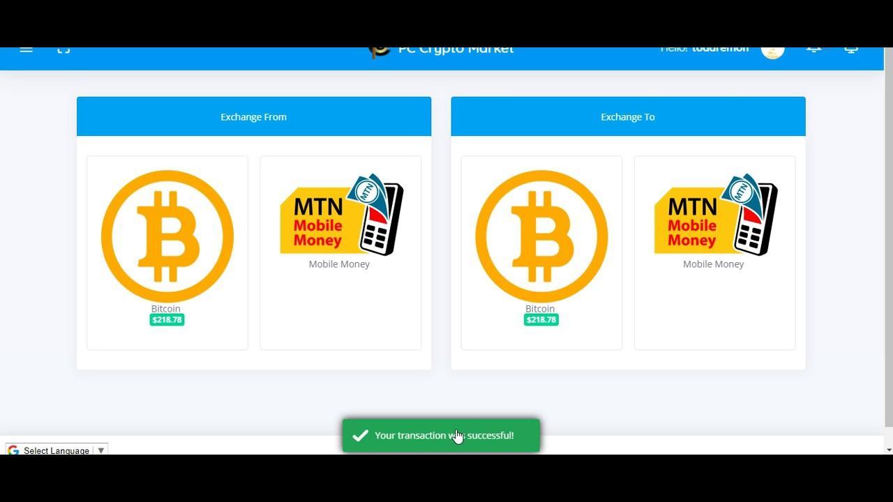 convert bitcoin to mobile money